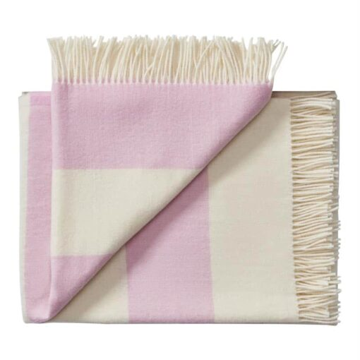 plaid roze merinowol strepen silkeborg