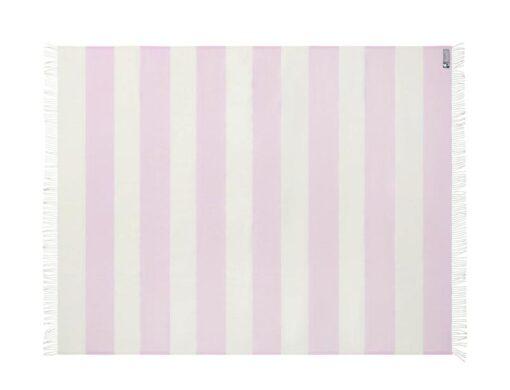 plaid roze strepen merinowol silkeborg
