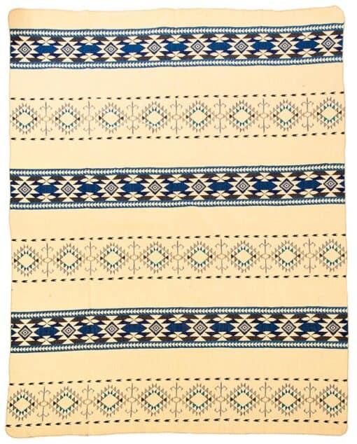 plaid sprei blauw alpacawol Cotopaxi