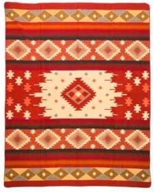 plaid sprei rood alpaca wol Quilotoa rood