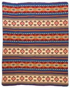 plaid sprei rood blauw Cotopaxi multi alpacawol