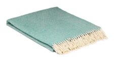 plaid turquoise merinowol spearmint