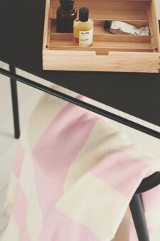 roze plaid merinowol strepen silkeborg