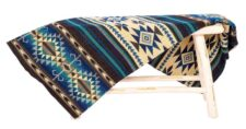 sprei blauw plaid alpacawol Cotopaxi