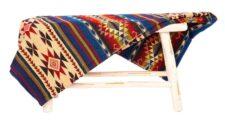 sprei blauw rood alpacawol Cotopaxi multi
