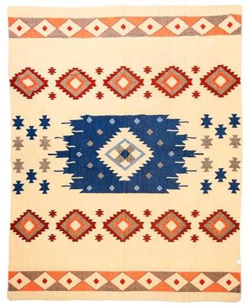 sprei plaid alpaca blauw Quilotoa