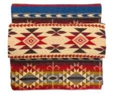 sprei plaid alpacawol blauw rood Cotopaxi multi