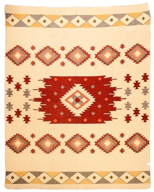 sprei plaid alpacawol rood Quilotoa