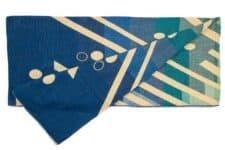 sprei plaid blauw alpacawol Imbabura