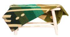 sprei plaid groen alpacawol Imbabura