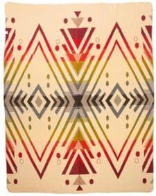 sprei rood beige alpacawol plaid Imbabura