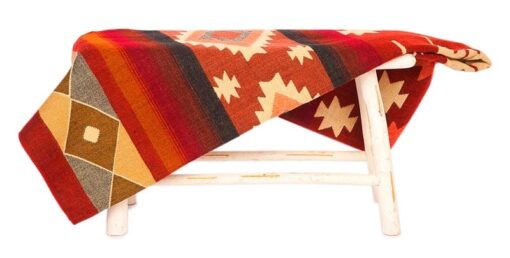 sprei rood plaid alpacawol Quilotoa