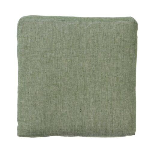 zitkussen groen ivy katoen linnen