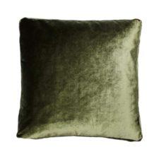 Kussen groen velvet raaf luxe vierkant