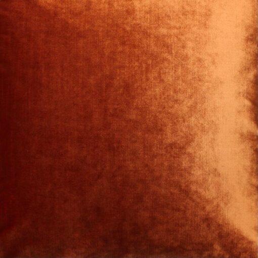 Kussen oranje velvet raaf luxe