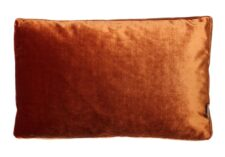 Kussen oranje velvet raaf luxe langwerpig