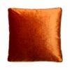 Kussen oranje velvet raaf luxe vierkant