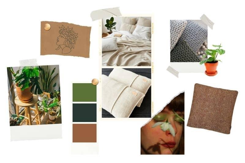 Natuurlijke slaapkamer met planten