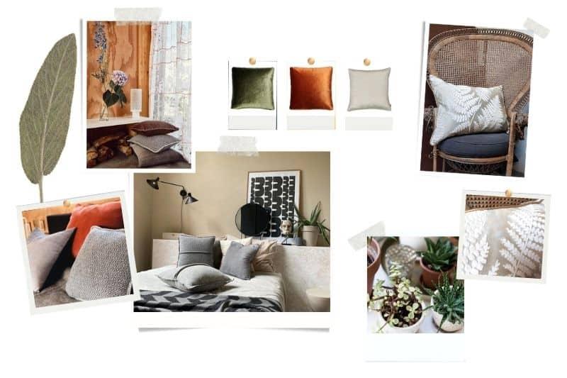 Vintage slaapkamer warm rotan