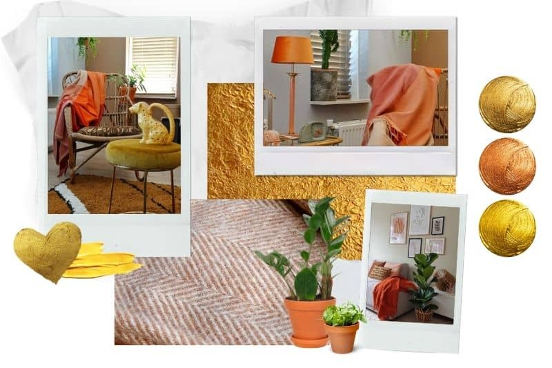 goud oranje interieur