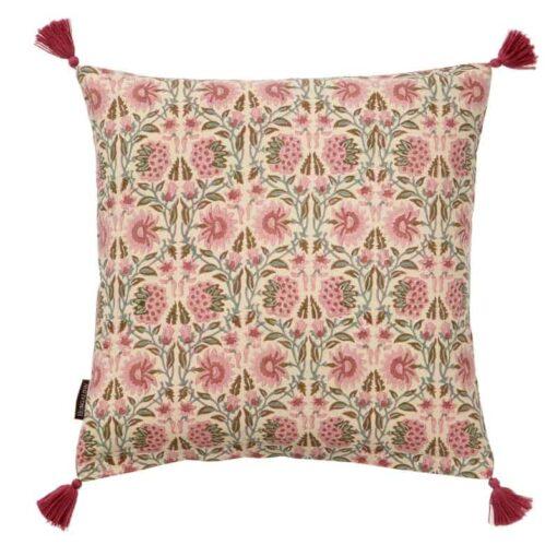 kussen roze katoen gebloemd bungalow