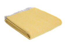 plaid geel wit ruiten wol