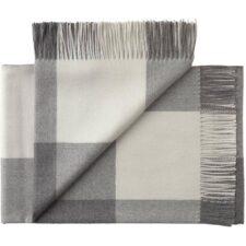 plaid grijs wit blokken alpacawol silkeborg