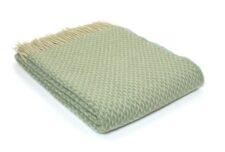 plaid groen wit ruiten wol