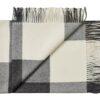 plaid zwart wit alpacawol blokken silkeborg