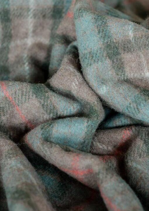 Deken wol groen ruiten klassiek