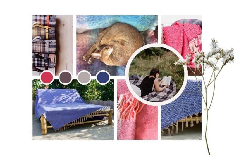 Grand foulard en picknickkleden