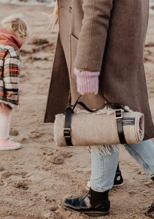 Picknick kleed visgraat compact wol