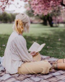 Picknickkleed beige ruiten wol