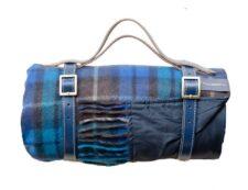 Picknickkleed blauw klassieke tartan ruit wol
