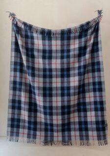 Picknickkleed donker blauw navy geruit wol