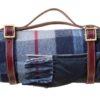 Picknickkleed donkerblauw wol klassieke ruit
