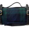 Picknickkleed geruit blauw groen zwart wol