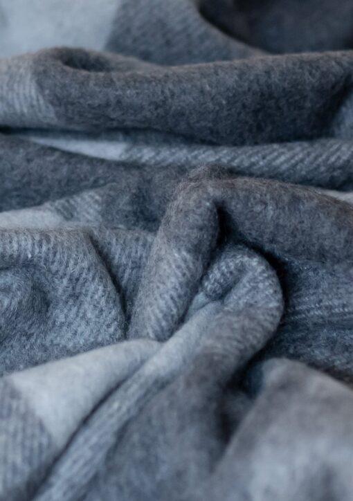 Picknickkleed grijs geruit wol