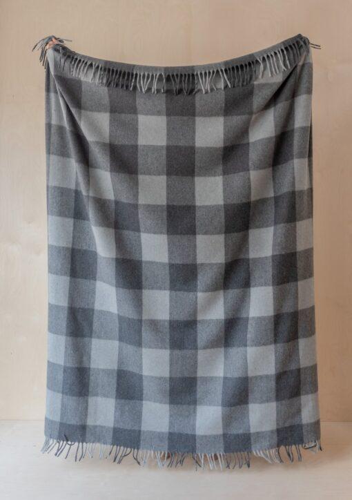 Picknickkleed grijs ruiten wol