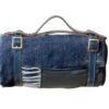 Picknickkleed navy donker blauw visgraat
