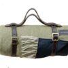 Picknickkleed olijfgroen visgraat wol