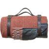 Picknickkleed roest visgraat wol