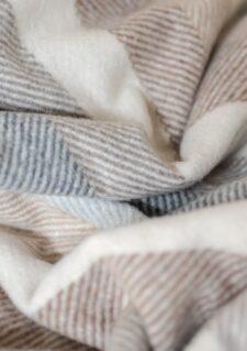 Picknickkleed strepen grijs beige wolwit