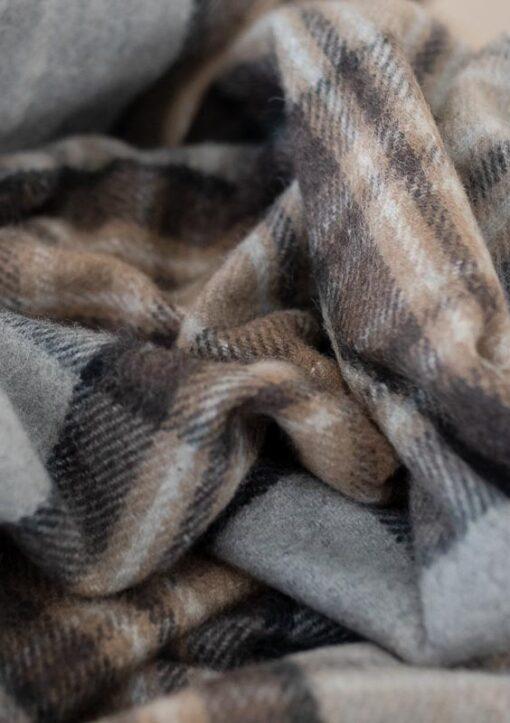 Picknickkleed wol beige ruiten