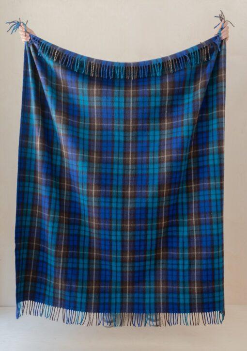 Picknickkleed wol blauw schotse ruit