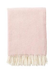 Plaid roze lamswol merinowol classic