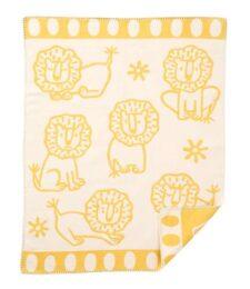 Wiegdeken geel gekamd katoen leeuw