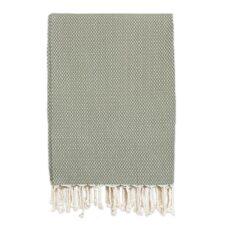 grand foulard olijfgroen ottoman katoen