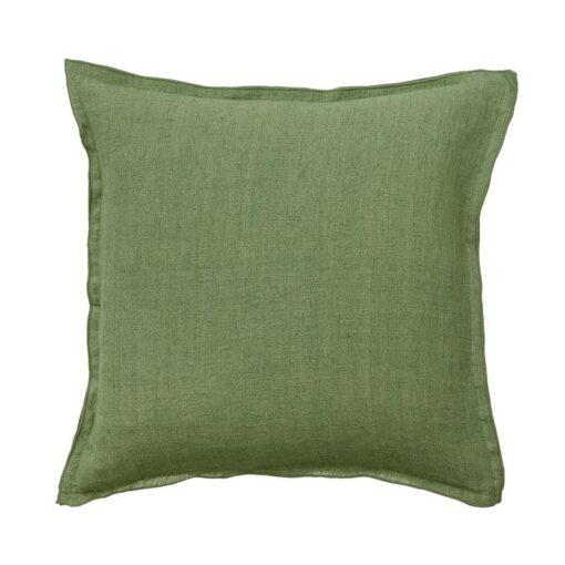kussen groen linnen gras bungalow