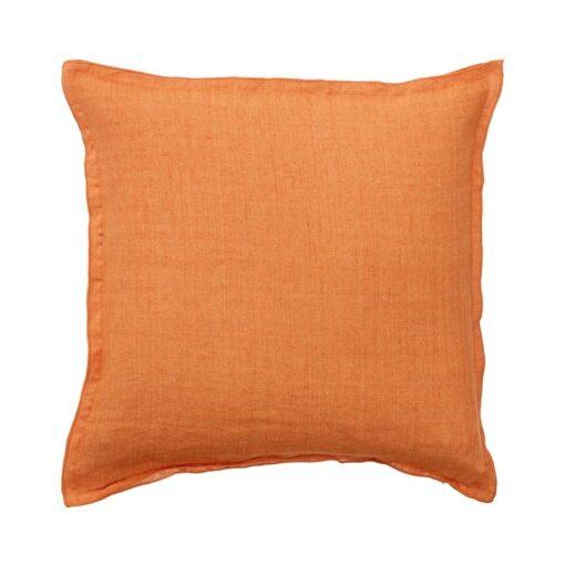 kussen oranje linnen mandarin